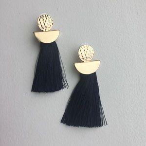Melrose and Market Black Tassel Earrings